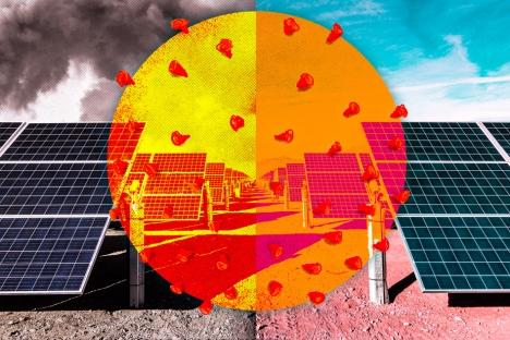 El apagado de Covid-19 condujo a una mayor producción de energía solar