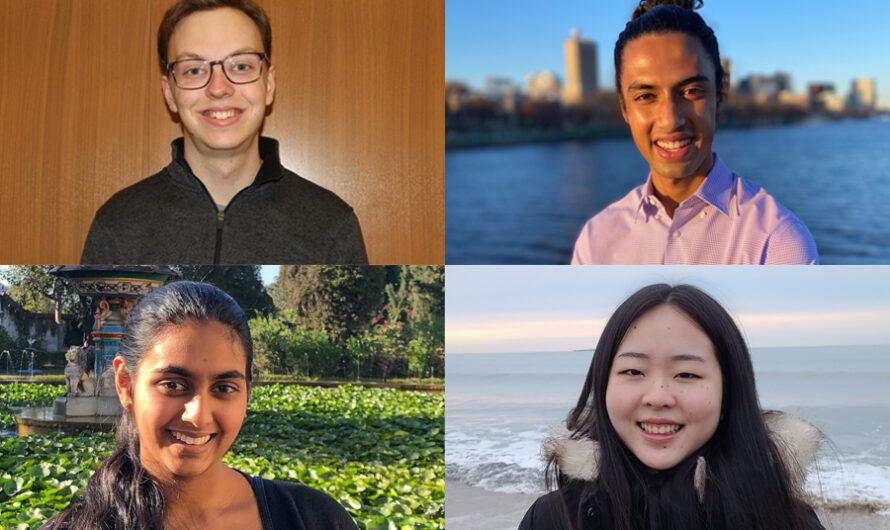 Spencer Compton, Karna Morey, Tara Venkatadri y Lily Zhang nombrados Becarios Goldwater 2021-2022 | Noticias del MIT